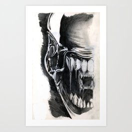 Alien Face. Art Print