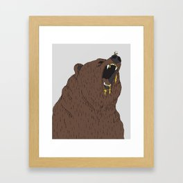 Give me my honey Framed Art Print