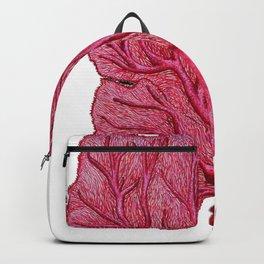 Venus red sea fan coral Backpack