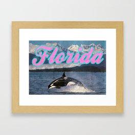 Visit Florida (Vintage) Framed Art Print