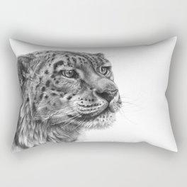 Snow Leopard G095 Rectangular Pillow