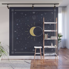 Solar Eclipse 2017 Wall Mural