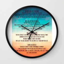 The Four Agreements 13 Wall Clock