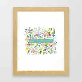 Jane Eyre - I Would Rather Be Happy Than Dignified Framed Art Print