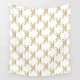 Double Helix - Gold #741 Wall Tapestry