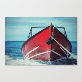 Boat in Tow Canvas Print