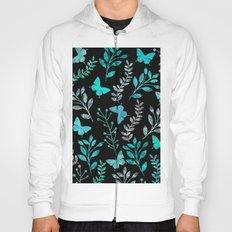 Watercolor flowers & butterflies IV Hoody