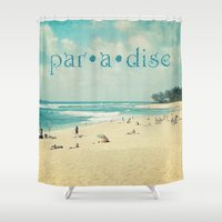paradise Shower Curtains featuring paradise by Sylvia Cook Photography