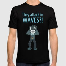 Guardian Ghost- THEY COME IN WAVES Black Mens Fitted Tee SMALL
