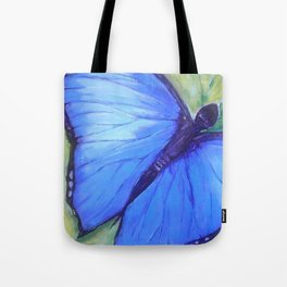 Blue Butterfly: Transfiguration Tote Bag