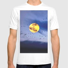 On a left along the moon and further to the east. Mens Fitted Tee White MEDIUM