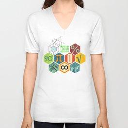Math in color Unisex V-Neck