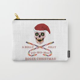 Holly Jolly Roger Xmas Carry-All Pouch