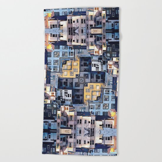 Community of Cubicles Beach Towel