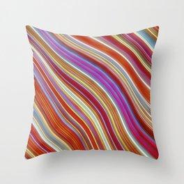 Wild Wavy Lines 13 Throw Pillow