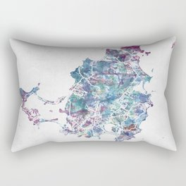 St Martin map Rectangular Pillow