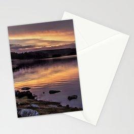 The Derwent Reservoir at sunset Stationery Cards