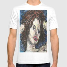 LUCRETIA SOMETIMES White SMALL Mens Fitted Tee