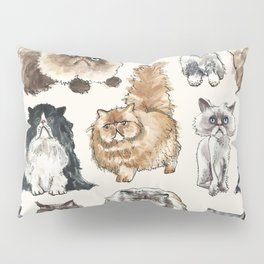 Disappointed Cats Pillow Sham