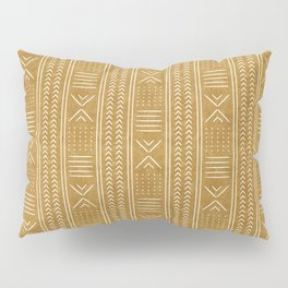 mustard mud cloth - arrow cross Pillow Sham