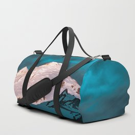 Mt Baker Blue Duffle Bag