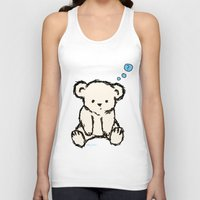 teddy bear Tank Tops featuring Teddy by RaJess
