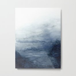 Indigo Abstract Painting | No.2 Metal Print