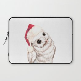 Christmas Snowy Owl Laptop Sleeve