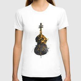 double bass music art #doublebass T-shirt