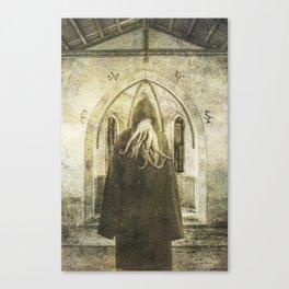 Dark Victorian Portrait: The Pious Canvas Print