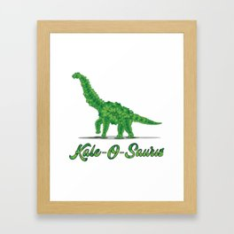 Kale Art for Vegans, Vegetarians & Dinosaur Lovers Light Framed Art Print