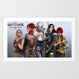 The Witcher's Women Art Print