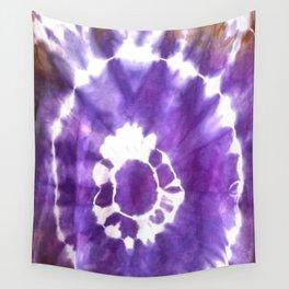 Purple blue tie dye Wall Tapestry
