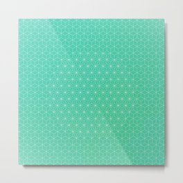 Mint Asa-no-Ha Stars Metal Print