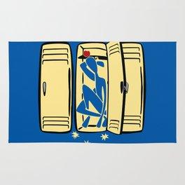 Blue (is shoved in a locker) Rug