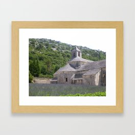 Lavender at the Abbey Framed Art Print