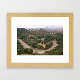 Los Angeles Under Smoke Framed Art Print