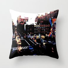 25th St. (Color) Throw Pillow