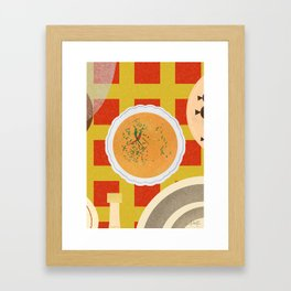 Soup Bone Broth Framed Art Print