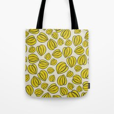 Yellow Floral Pods Tote Bag