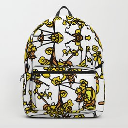 Golden Floral Petals Abstract Backpack