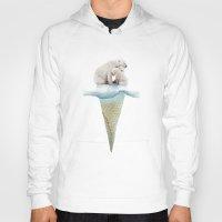 ice Hoodies featuring polar ice cream cap 02 by Vin Zzep