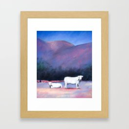 Arizona Cows Framed Art Print