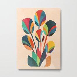 Ikebana - Geometric flower Metal Print