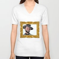 cowboy V-neck T-shirts featuring Cowboy by Cesar Peralta