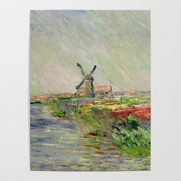 "Claude Monet ""Tulip field in Holland (Champ de tulipes en Hollande)"" Poster"