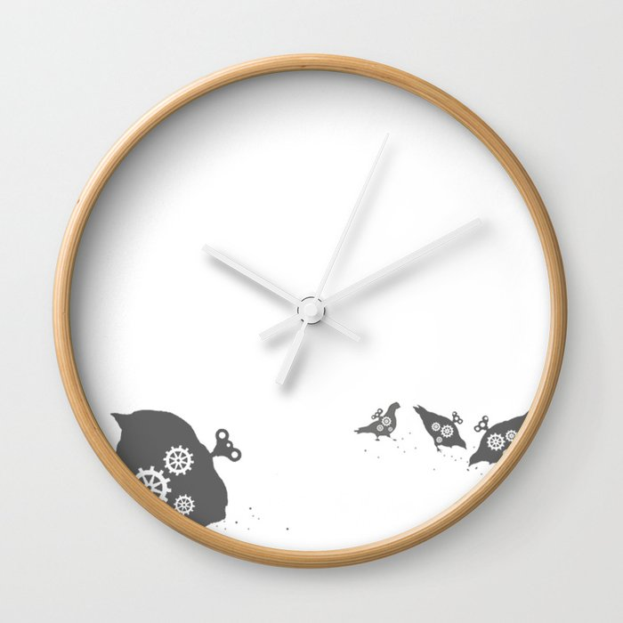 In which wind-up birds happen Wall Clock