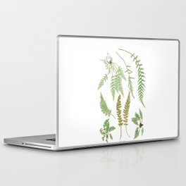 Fern Plants Illustration - Vintage Laptop & iPad Skin