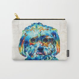Colorful Dog Art - Lhasa Love - By Sharon Cummings Carry-All Pouch