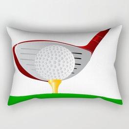 Teeing Off Golf Rectangular Pillow